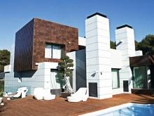 Фасады из натурального гранита: использование в облицовке