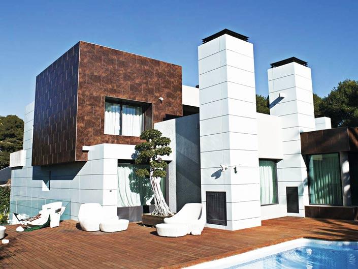 Облицовка фасада гранитом придаст дому изысканность