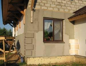 Отделка фасада дома осб плитами